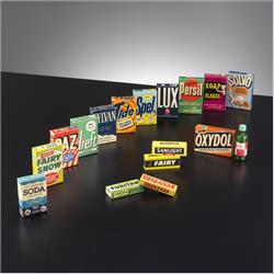 Miniatures - Group Photographs - Kiddicraft Miniatures - Soap & Detergent Group - http://www.hilarypagetoys.com