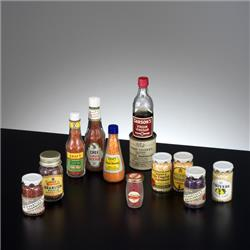 Miniatures - Group Photographs - Kiddicraft Miniatures - Sauces & Preserves Group - http://www.hilarypagetoys.com
