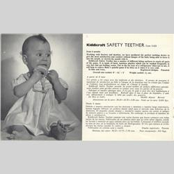 1963-1977 ~ 2-, 3-, 4-,5- & 6- Prefix Ref. No's - 3-225 Safety Teether - http://www.hilarypagetoys.com