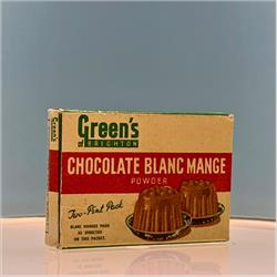 Miniatures - Cartons - Green's Chocolate Blanc Mange (C11) - http://www.hilarypagetoys.com
