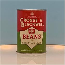 Miniatures - Tins - Crosse & Blackwell Beans in Tomato Sauce (T22) - http://www.hilarypagetoys.com