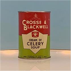 Miniatures - Tins - Crosse & Blackwell Celery Soup (T19) - Red Label - http://www.hilarypagetoys.com