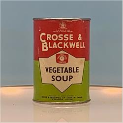 Miniatures - Tins - Crosse & Blackwell Vegetable Soup (T16) - Red Label - http://www.hilarypagetoys.com