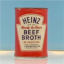 Miniatures - Tins - Heinz Beef Broth (T36) - http://www.hilarypagetoys.com
