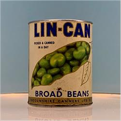Miniatures - Tins - Lin-Can Broad Beans (T48) - http://www.hilarypagetoys.com