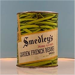 Miniatures - Tins - Smedley's Garden French Beans (T72) - http://www.hilarypagetoys.com