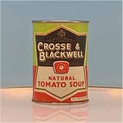 Miniatures - Tins - Crosse & Blackwell Tomato Soup - Black Label - http://www.hilarypagetoys.com