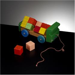1963-1977 ~ 2-, 3-, 4-,5- & 6- Prefix Ref. No's - 5-116 Brick Lorry (with 15 Large Interlocking Building Cubes) - http://www.hilarypagetoys.com