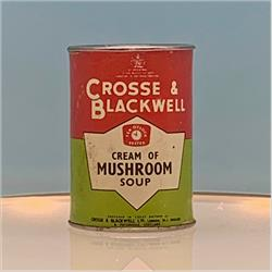 Miniatures - Tins - Crosse & Blackwell Mushroom Soup (T17) - Red Label - http://www.hilarypagetoys.com