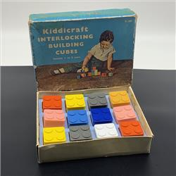Interlocking Building Cubes - K280 Kiddicraft Interlocking Building Cubes - 12 cubes - 1957 - http://www.hilarypagetoys.com
