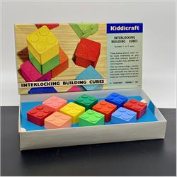 Interlocking Building Cubes - 2-280 Kiddicraft Interlocking Building Cubes - 10 cubes - New Larger size - http://www.hilarypagetoys.com
