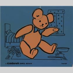 1932-1962 ~ K & F Prefix Ref. No's - K157 Simple Jigsaw - No.3 Teddy (8pcs) Blue.jpeg - http://www.hilarypagetoys.com
