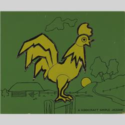 1932-1962 ~ K & F Prefix Ref. No's - K157 Simple Jigsaw - No.11 Cockerel (8 pcs) - http://www.hilarypagetoys.com