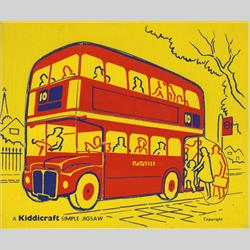 1963-1977 ~ 2-, 3-, 4-,5- & 6- Prefix Ref. No's - 5-157 Simple Jigsaw - No.5 London Bus (7pcs) - http://www.hilarypagetoys.com