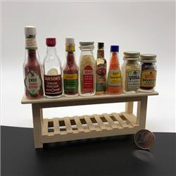 Miniatures - Group Photographs - Kiddicraft Miniatures - Condiments Group - http://www.hilarypagetoys.com