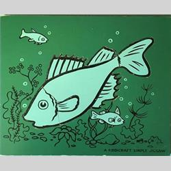 1932-1962 ~ K & F Prefix Ref. No's - K157 Simple Jigsaw - No.0 Fish - Dark Green (6pcs) - http://www.hilarypagetoys.com