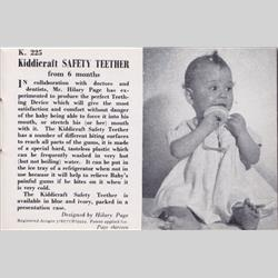 1932-1962 ~ K & F Prefix Ref. No's - K225 Safety Teether - http://www.hilarypagetoys.com
