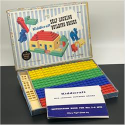 1932-1962 ~ K & F Prefix Ref. No's - K300 Self-Locking Building Bricks - Set 2 - 50 bricks (Large), 15 doors and windows - http://www.hilarypagetoys.com
