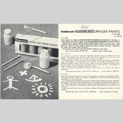 1963-1977 ~ 2-, 3-, 4-,5- & 6- Prefix Ref. No's - 2-348 Poster and Finger Paints - http://www.hilarypagetoys.com