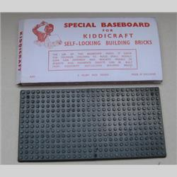 1932-1962 ~ K & F Prefix Ref. No's - K313 Self-Locking Building Bricks - Baseplate - 14 x 28 studs for small bricks - http://www.hilarypagetoys.com
