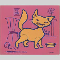 1963-1977 ~ 2-, 3-, 4-,5- & 6- Prefix Ref. No's - 5-157 Simple Jigsaw - No.4 Cat - Pink (9pcs) - http://www.hilarypagetoys.com