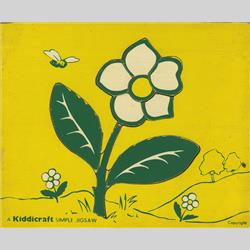 1963-1977 ~ 2-, 3-, 4-,5- & 6- Prefix Ref. No's - 5-157 Simple Jigsaw - No.8 Flower (9pcs) - http://www.hilarypagetoys.com