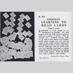 1932-1962 ~ K & F Prefix Ref. No's - K373 Learning to Read Cards - http://www.hilarypagetoys.com