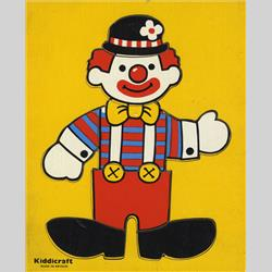 1963-1977 ~ 2-, 3-, 4-,5- & 6- Prefix Ref. No's - 5-154 Simple Jigsaw - Clown (8pcs) - http://www.hilarypagetoys.com