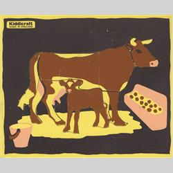 1963-1977 ~ 2-, 3-, 4-,5- & 6- Prefix Ref. No's - 5-157 Simple Jigsaw - Cow and Calf (10 pieces) - http://www.hilarypagetoys.com