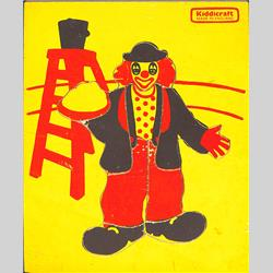 1963-1977 ~ 2-, 3-, 4-,5- & 6- Prefix Ref. No's - 5-157 Simple Jigsaw - Clown (9 pieces) - http://www.hilarypagetoys.com